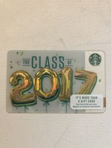 Starbucks Gift Card - NEW - CLASS OF 2017 (COPYRIGHT 2016) - $1.19