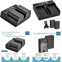 Bm 2-Pack Of Lp-E6N Batteries And Dual Battery Charger For Canon Eos R, ... - $35.63