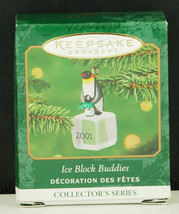 Hallmark Ornament ICE BLOCK BUDDIES PENGUINS Miniature New in Box 2001 - $8.95