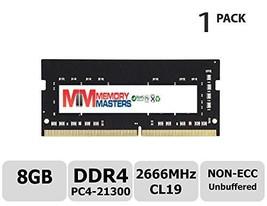 MemoryMasters 8GB DDR4 2666MHz PC4-21300 Unbuffered Non-ECC 1.2V CL19 1Rx8 Singl - $61.38