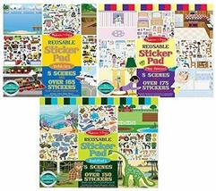 Melissa and Doug Reusable Sticker Pads- Habitats, Vehicles, and Play House, Mode - $19.35