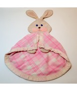 Fisher Price Bunny Rabbit Security Blanket Pink Plaid Satin Trim #443 Lo... - $75.00
