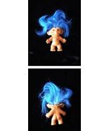 Troll Vintage Doll Blue Hair Uneeda Wishnik - $26.99