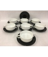 Set of 7 Footed Cream Soup Bowl & Saucer Set Variations ROSENTHAL CONTIN... - $201.95