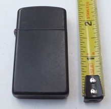 Vintage 1988 Zippo Black Slim Lighter - $25.25