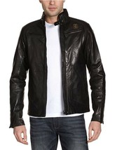 G Star Raw Men's Brando Leather Jacket in Black Size XL BNWT $895 - $275.75