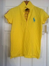 RALPH LAUREN TEENAGE GIRLS NEW YELLOW 100%COTTON POLO SHIRT SIZE: XL(16) - $36.47