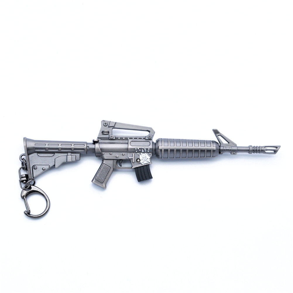 Fortnight Battle Royale Gun Keychain Toy tnite Metal Action Figure Model Gun Toy
