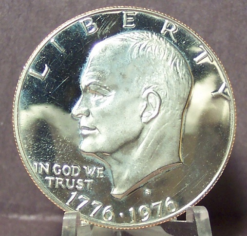 Primary image for 1976-S DCAM Clad Proof Eisenhower Dollar Var 1  PF65 #0279