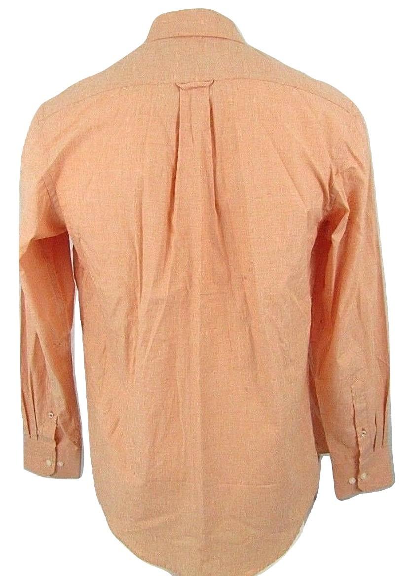 IZOD Heritage Essentials Men's Long Sleeve Button Collar Peach Shirt Size M