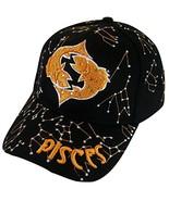 Zodiac Horoscope Sign Adult Size Adjustable Baseball Caps (Pisces) - $12.95