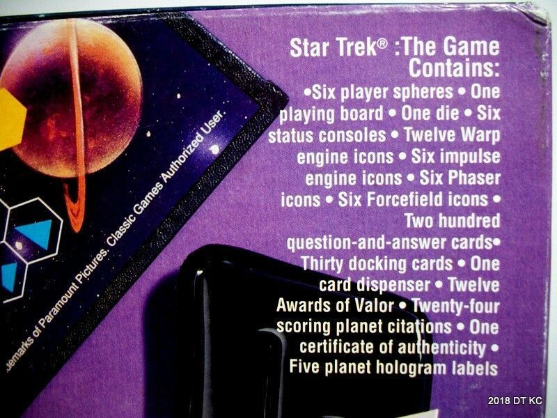Classic Board Game 1992 STAR TREK Strategic Logic 200 Q&A Trivia Cards COMPLETE