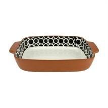 """Kaemingk 14"""" Basic Luxury Black and White Circle Terracotta Oven Baking ... - $1.003,30 MXN"""