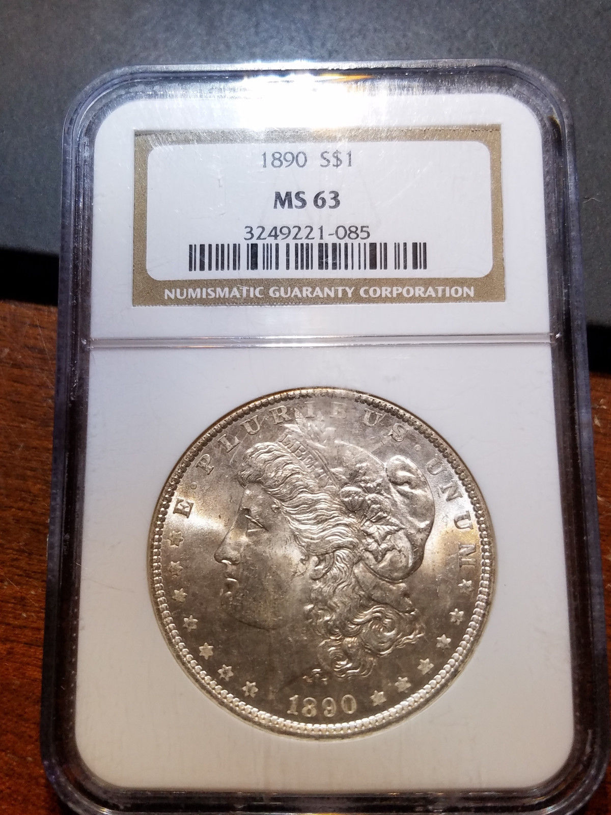 1890 Morgan Dollar MS 63 NGC         11398-58