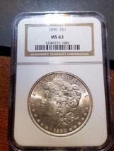 1890 Morgan Dollar MS 63 NGC         11398-58 - $109.95