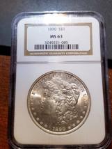 1890 Morgan Dollar MS 63 NGC         11398-58 - $109.95