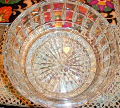 Vintage Lead Crystal HEAVY 6 x 9 Salad Bowl BEAUTIFUL - $21.54