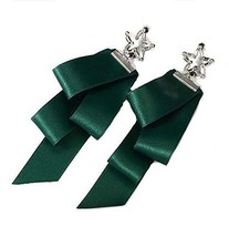 European Style Ribbon Individuality Earrings Asymmetric Earrings, Green