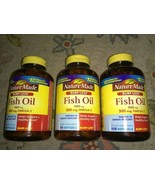 3 Bottles Nature Made Fish Oil 1000 mg 300 mg Omega-3 150 Softgels Each ... - $31.67