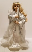 VTG Light Motion Motionette Christmas Silver Ice Winter Herald Angel w/ ... - $38.80