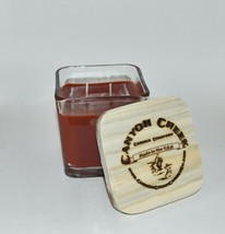 New Canyon Creek Candle Company 14oz Cube Jar Cranberry Orange Handmade! - $29.94