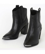 Steve Madden Womens Zora Leather Pointed Toe Booties Ankle Boots Size 5.5 - $79.99