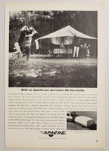 1964 Print Ad Apache Silver Eagle Tent Camping Travel Trailers Vesely Lapeer,MI - $12.85