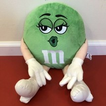 "M&M 18"" Green M&M Plush Stuffed Doll High Heels Kiss Lips Candy Chocolat... - $20.56"