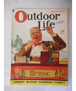 Vintage OUTDOOR LIFE April 1934 issue Magazine Hunting Fishing - $22.23