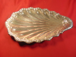 "9"", S.P., Scalloped Shell Dish, from Crown Silver of Sheffield, England. - $19.99"