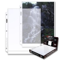 1 Case of (1000) BCW PRO 1-POCKET PHOTO PAGES - 8 X 10 - £115.45 GBP