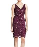 NWT WOMEN  JS COLLECTIONS Art Deco Beaded  Plum  Dress size 6 $199 - $75.23