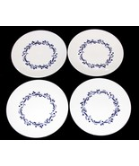 4 Royal Doulton London FABLE Navy Blue Berry Floral Garland Salad Plates... - $56.99