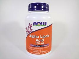 NOW Alpha Lipoic Acid 100mg Free Radical Scavenger 120 Veg Capsules {VS-N} - $18.70