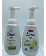 (2) Dove Instant Foaming Body wash CucumberGreen tea Moisture Pump 13.5oz - $9.99