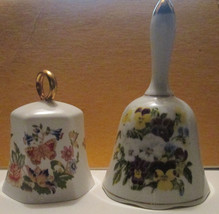 AYNSLEY PEMBROKE PORCELAIN DINNER BELL BUTTERFLY, PLUS UNMARKED BELL FLO... - $11.46