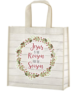 JESUS IS THE REASON FOR THE SEASON REUSABLE CHRISTMAS TOTE BAGS - $16.40
