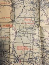"Vintage1924 Rand McNally Wisconsin Auto Trails Map Folding 34""x27"" image 7"