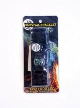 Paracord Adjustable Survival Bracelet Fire Starter Compass Whistle SOS B... - $8.88