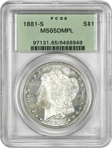 1881-S $1 PCGS MS65 DMPL (OGH) - Old Green Label Holder - $999.10