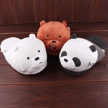 We Bare Bears Cartoon Bear Grizzly Panda Ice Bear Adult Plush Slippers Winter In image 5