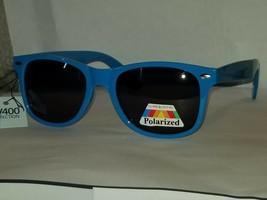 Way Cool Neon Blue Glare Blocking Polarized Sunglasses w Spring Hinges UV400 - $9.87