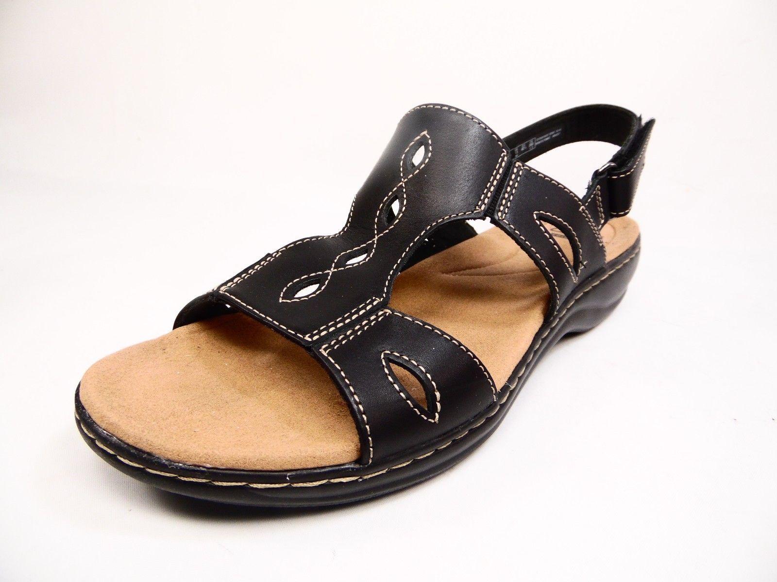213220386181 Clarks Leisa Lakelyn Leather Womens Sandal Low Heel Shoes Black Size 11M