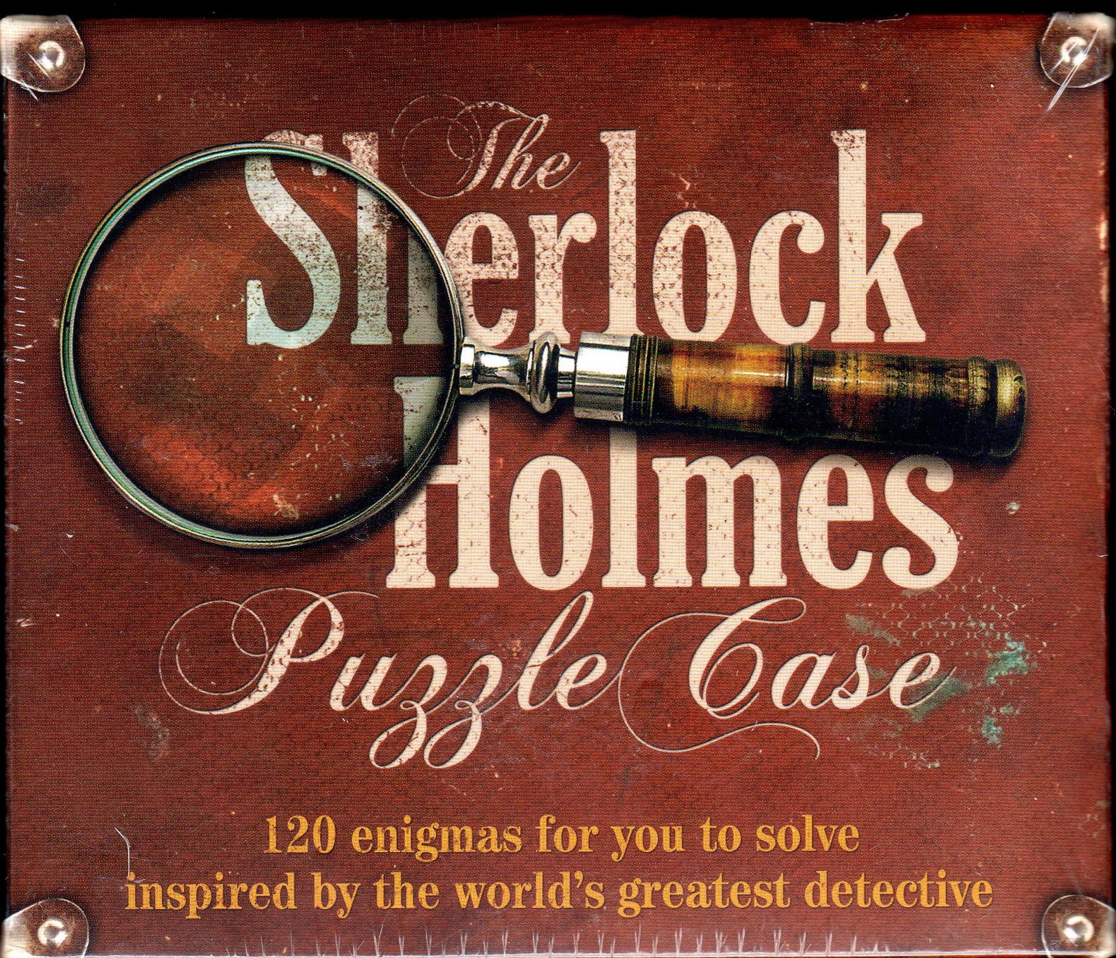 The SHERLOCK HOLMES PUZZLE CASE Game:120 Enigmas for You to Solve SEALED!