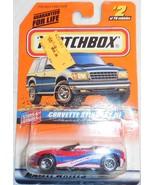"1998 Matchbox ""Corvette Stingray lll"" #2 of 100 Vehicles On Sealed Card - $4.00"
