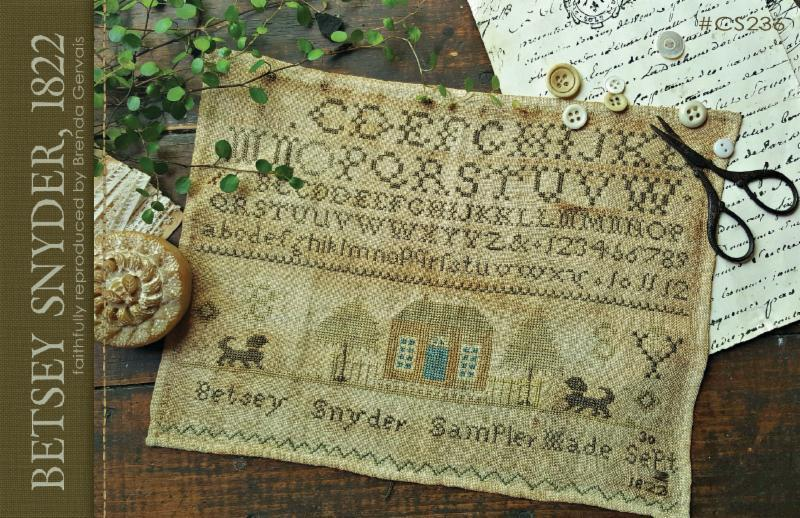 Betsy Snyder 1822 reproductions sampler cross stitch chart  With Thy Needle