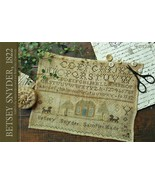 Betsy Snyder 1822 reproductions sampler cross stitch chart  With Thy Nee... - $12.00