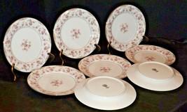 Noritake China (8 Salad Plates) Charmaine 5506 AA20-2360F2 Vintage