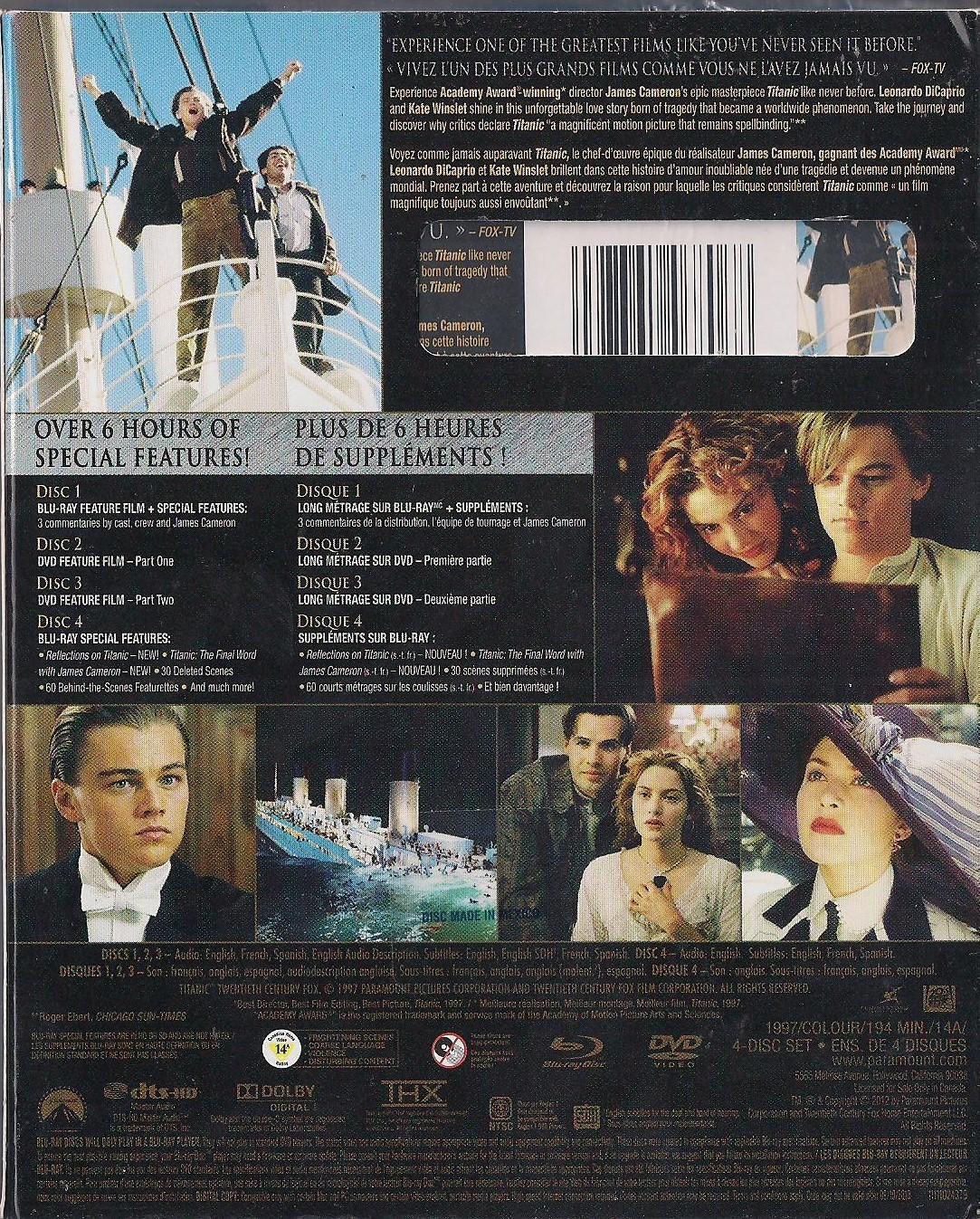 titanic blu ray  The Titanic (Blu-Ray + DVD + Digital Copy 4 and 50 similar items