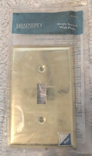 Brainerd Manufacturing Co 64395 Plated Brass Single Switch Wall Plate